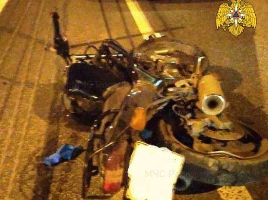 В Калуге мотоциклист влетел в отбойник