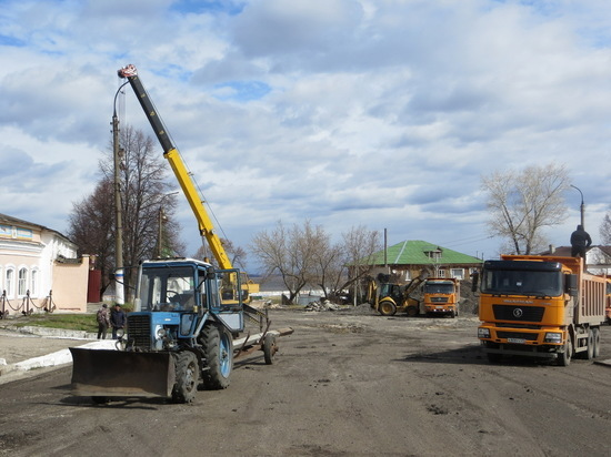 В Козьмодемьянске продолжается реконструкция площади Карла Маркса