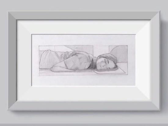 Рязанец Александр Дёмкин продает эскиз «спящей девушки» за 100 долларов