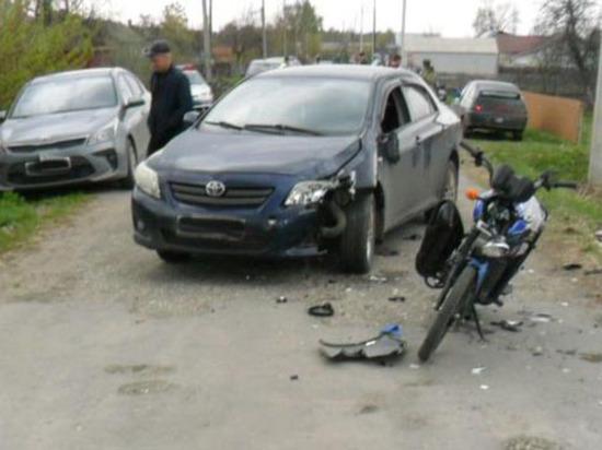 В Первомайском районе в ДТП пострадал 13-летний водитель мопеда
