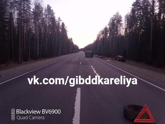 Двойное ДТП: мужчина погиб на трассе «Кола» в Карелии
