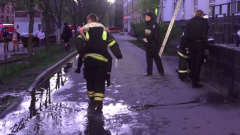 Опубликовано видео последствий пожара в московской гостинице