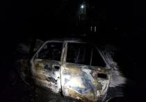 В поселке Геологов в Смоленске загорелся автомобиль