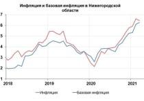 Годовая инфляция в Нижегородской области в марте 2021 года по сравнению с февралем замедлилась на 0,2...