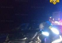 Три человека пострадали в столкновении двух иномарок на М-3 под Калугой