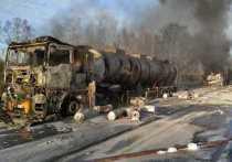 Вечером 3 мая возле столицы Урала, на 28-м километре Тюменского тракта, произошло столкновение трех грузовиков