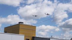 В небе Москвы прошла авиационная тренировка парада Победы: видео