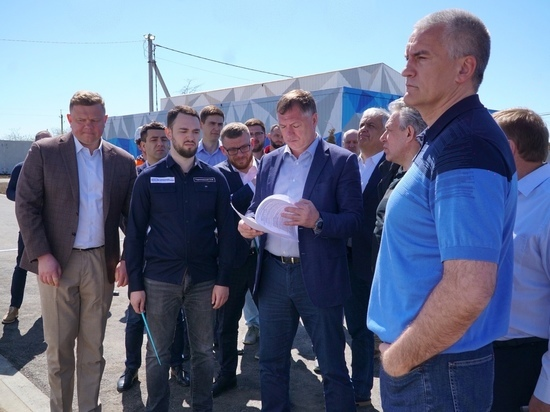 Аксёнов и Хуснуллин проверили стройку Бештерек-Зуйского водозабора - МК Крым
