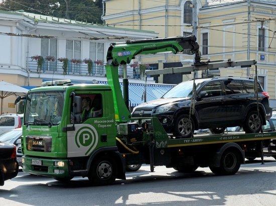 Почти 700 машин с начала года было эвакуировано на спецстоянки «Московского паркинга»