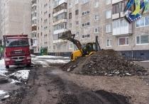 В Мурманске начались ремонтные работы во дворах