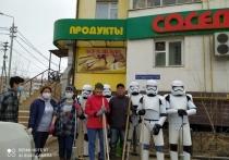 Улицы Якутска убирали штурмовики из киносаги «Звёздные войны»