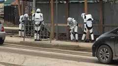 Улицы Якутска убирали герои кинофильма «Звёздные войны»