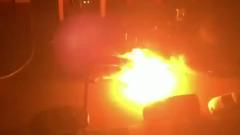 В Домодедово ночью взорвался и сгорел автомобиль
