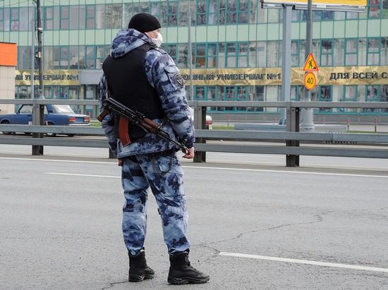В Москве мужчина с пистолетом набросился на сотрудника Росгвардии