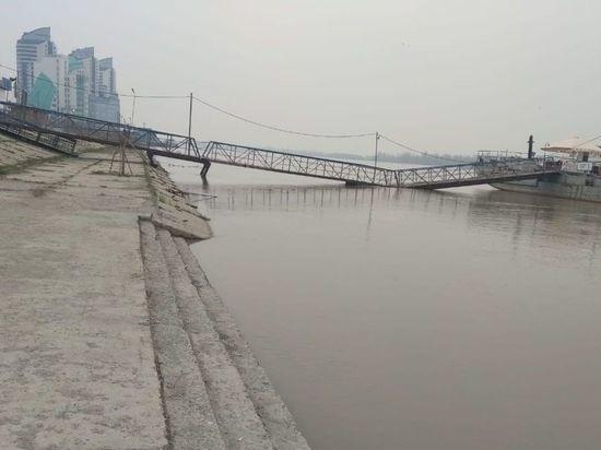В Оби рядом с Барнаулом растет уровень воды