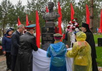 В Калужской области открыли памятник Герою СССР Николаю Кирееву