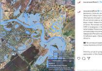 Роскосмос показал паводок в алтайском Заринске с орбиты