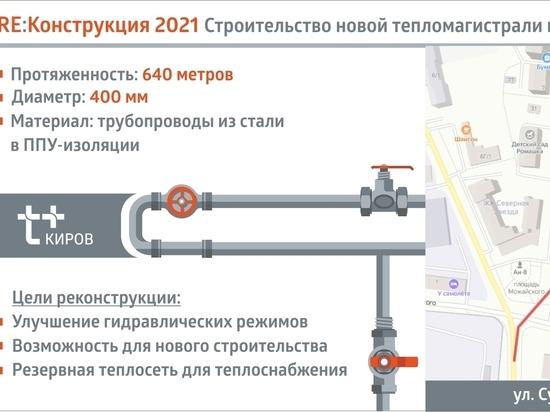 Т Плюс достраивает резервную тепломагистраль в микрорайон Филейка в Кирове