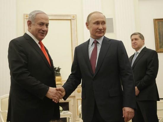 Президент России Владимир Путин провел телефонные переговоры с премьер-министром Израиля Биньямином Нетаньяху