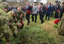 В Мосальском районе перезахоронили останки бойца НКВД Сергея Митюшина