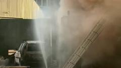В автосервисе в Мытищах взорвался бак бензина: видео