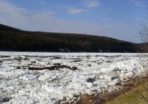 На утро 8 мая ледоход на реке Лена проходит в 560 км от границ Якутии