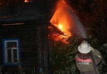 Ночью в Ивановской области сгорел частный дом