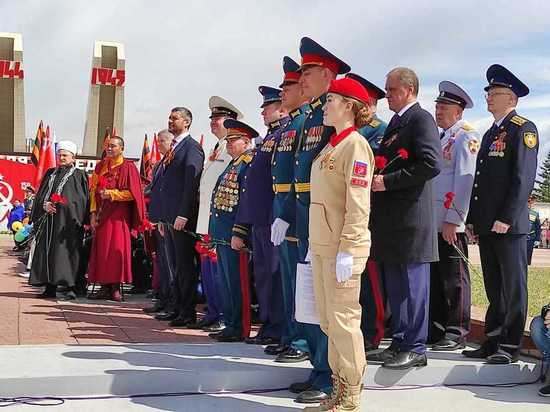 Торжественный митинг в честь Дня Победы прошел на мемориале в Чите
