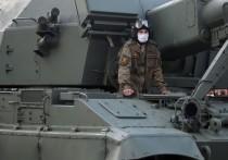 Участвующая в военном параде на Красной площади техника прошла из района Мневники в сторону центра