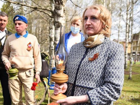«Огонь памяти» прибыл в Вологду в преддверии Дня Победы