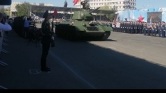По главной площади Оренбурга проехал легендарный танк