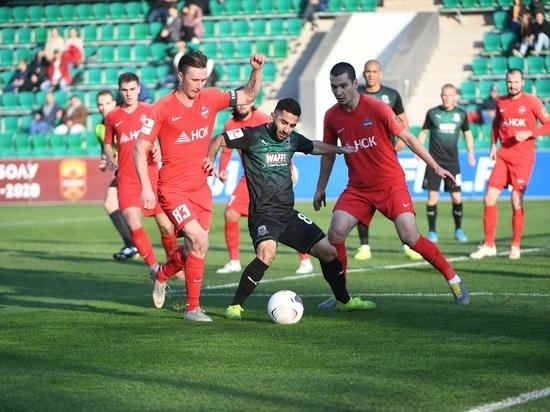 Футболисты красноярского «Енисея» уступили «Томи» в матче 41 тура ФНЛ