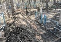 «Пост о том, как люди на кладбище совсем обнаглели: при уборке вместо того, чтобы сложить мусор в мешки, просто сгребают его в кучу рядом с оградкой моих родственников, каждый раз куча все больше и больше
