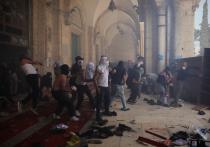 Столкновения между израильской полицией и палестинскими демонстрантами в Иерусалиме продолжаются