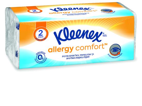 Новинка от «Клинекс»: Comfort™ Kleenex Allergy, носовые платки для облегчения обострения аллергии