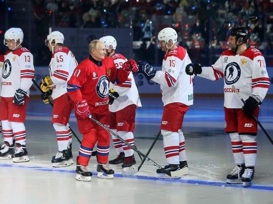 Владимир Путин забросил 8 шайб в гала-матче НХЛ в Сочи