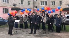 Песни Победы прозвучали во дворах Вологды