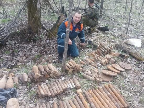 В Калужской области обезвредили 14 артснарядов и минометных мин