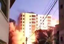 СМИ: Израиль уничтожил 13-этажный жилой дом в Газе