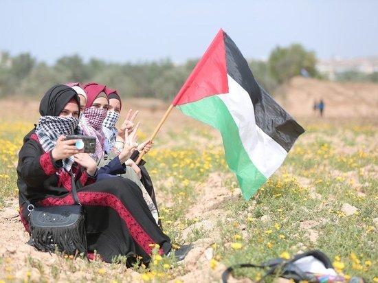В Нью-Йорке проходит акция в поддержку Палестины