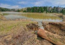 Дамбу пожарного водоема размыло под Кемеровом