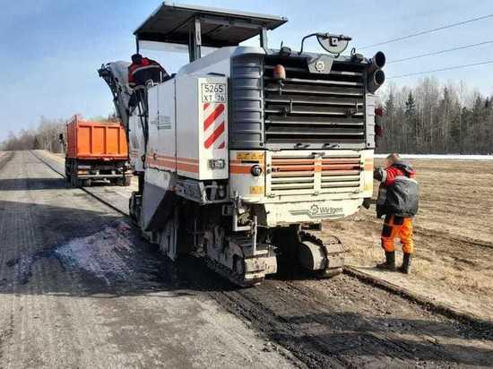 В Ярославской области ремонтируют дорогу Данилов – Пошехонье