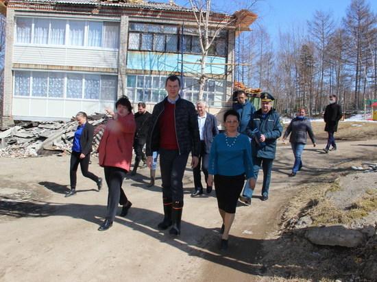 Михаил Дегтярев провел выездное заседание краевой комиссии по ЧС в Николаевске-на-Амуре