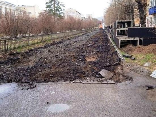 Власти Читы пояснили расположение сетей и перекрытие всей улицы Горького