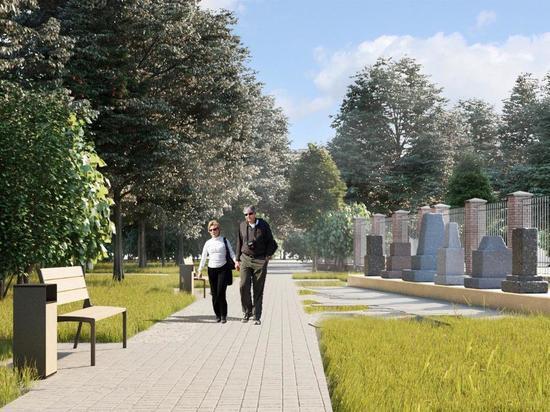 «Сад памяти» с обелисками и круговой зеркальный навес с лавочками появятся в Семеновском парке и одноименном сквере в этом году
