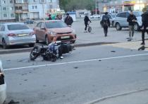 13-летняя девочка попала в больницу после ДТП с мотоциклистом в Кемерове