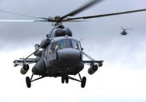 Под Псковом армейские вертолёты выполнили полёты в сложных метеоусловиях