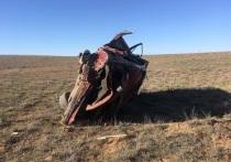 На территории Калмыкии в автоаварии погиб житель Дагестана