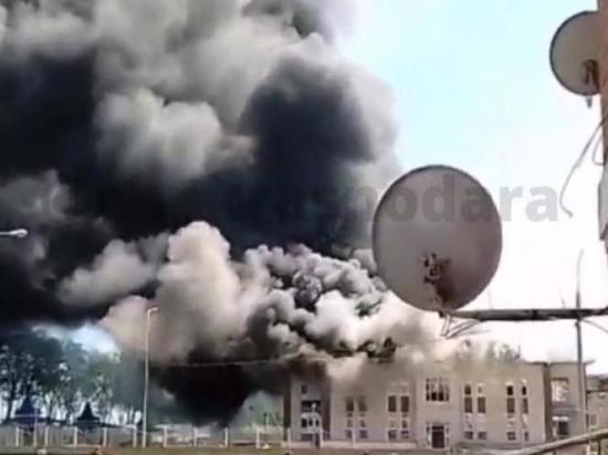 Площадь пожара в Кореновске увеличилась до 1 000 квадратных метров