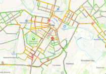 Из-за массового ДТП на Калужском шоссе в Туле вечером 14 мая образовалась огромная пробка